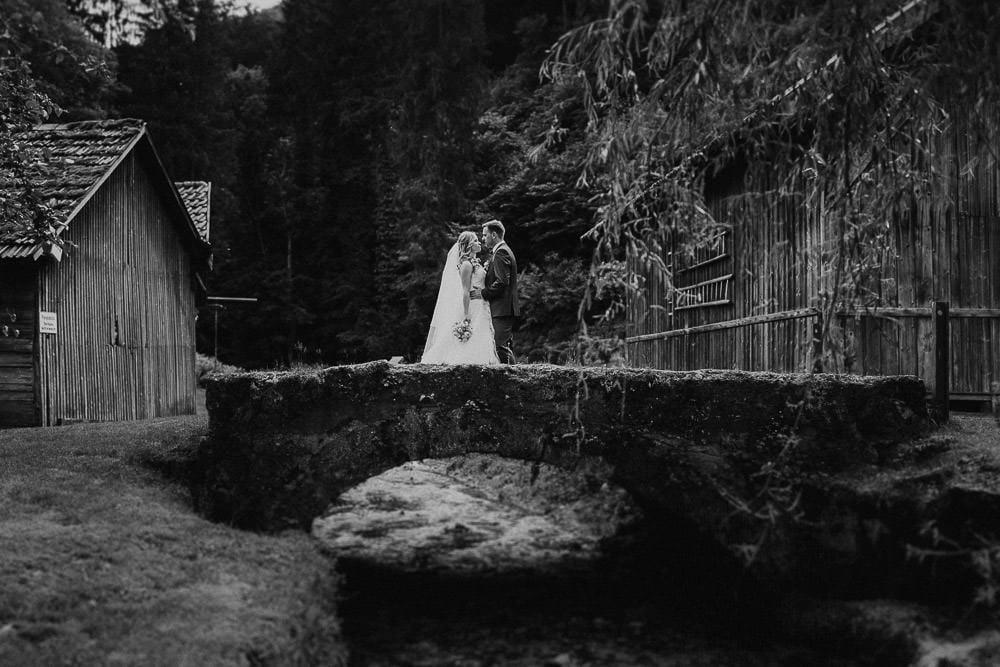 Hochzeit Künkele Mühle Brücke