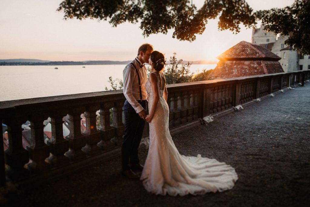 Hochzeit am Bodensee Schloss Meersburg Brautpaar