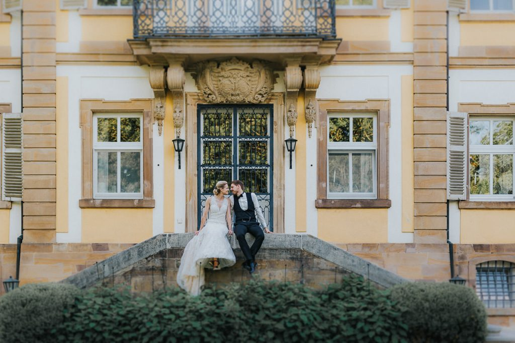Fotoshooting Brautpaar Gut Ludwigsruhe