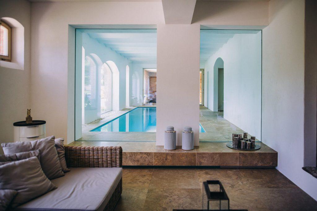 Hochzeit Magical Homes Pool Schwimmen