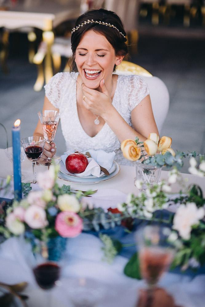 Hochzeit Braut lacht Magical Homes