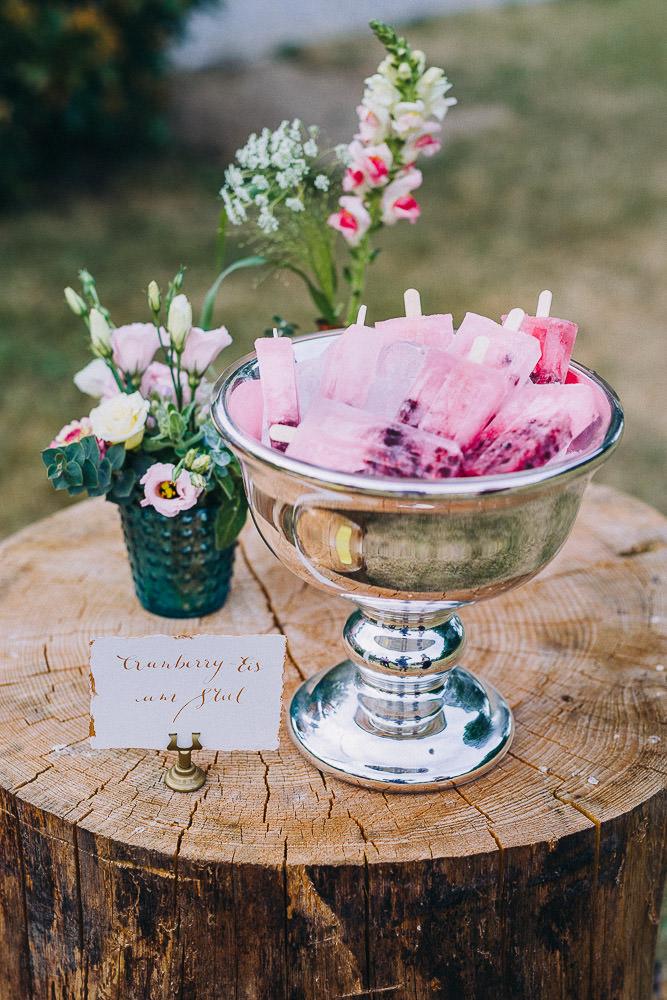 Selbstgemachtes Eis Hochzeit