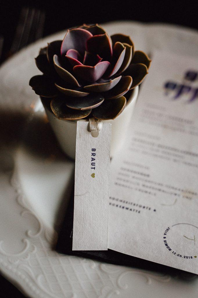 Ideen Gastgeschenk Hochzeit Sukkulenten