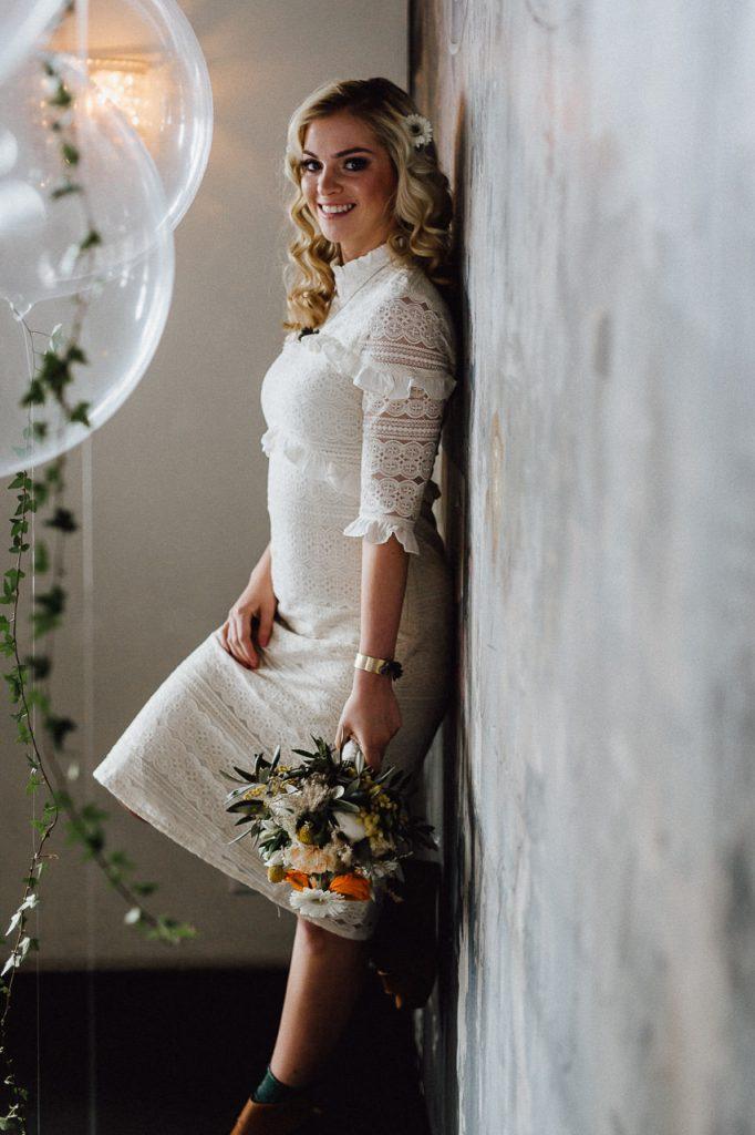 Hochzeitsfotograf Stuttgart Braut 70s