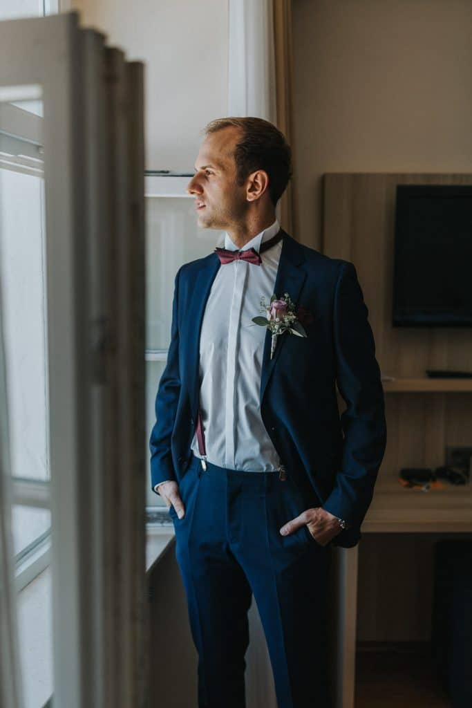 Hochzeit Bodensee Meersburg Bräutigam