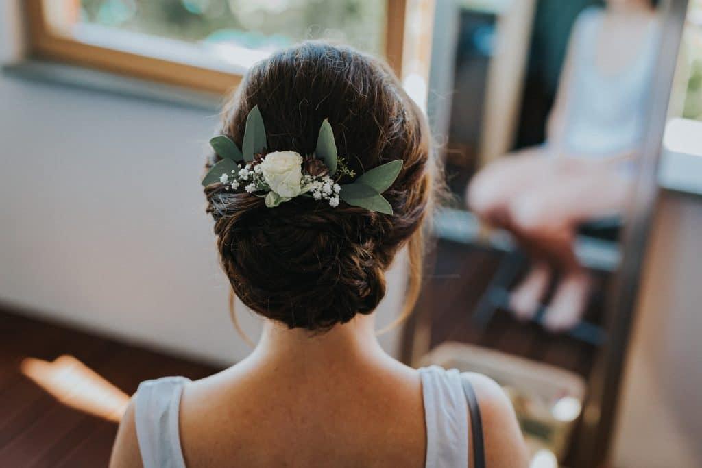Hochzeitsfotograf Bodensee Getting Ready Kopf Braut