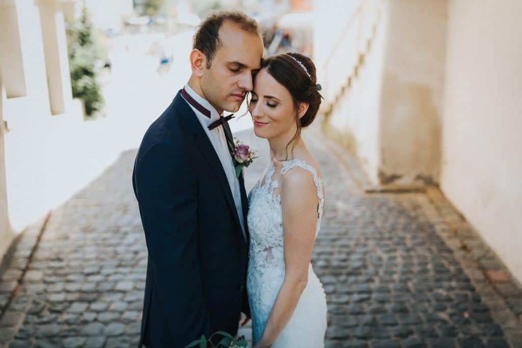 Hochzeitsfotograf Bodensee Braut Kopf an Kopf