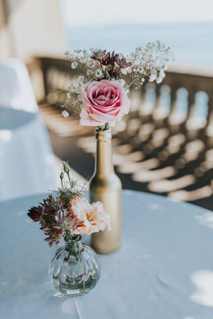 Hochzeit Bodensee Schloss Meersburg Blumen