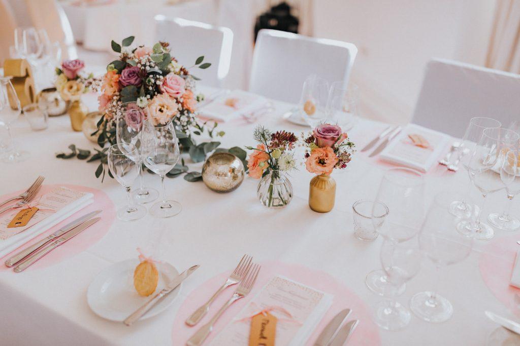 Hochzeit Bodensee Schloss Meersburg Tischdeko