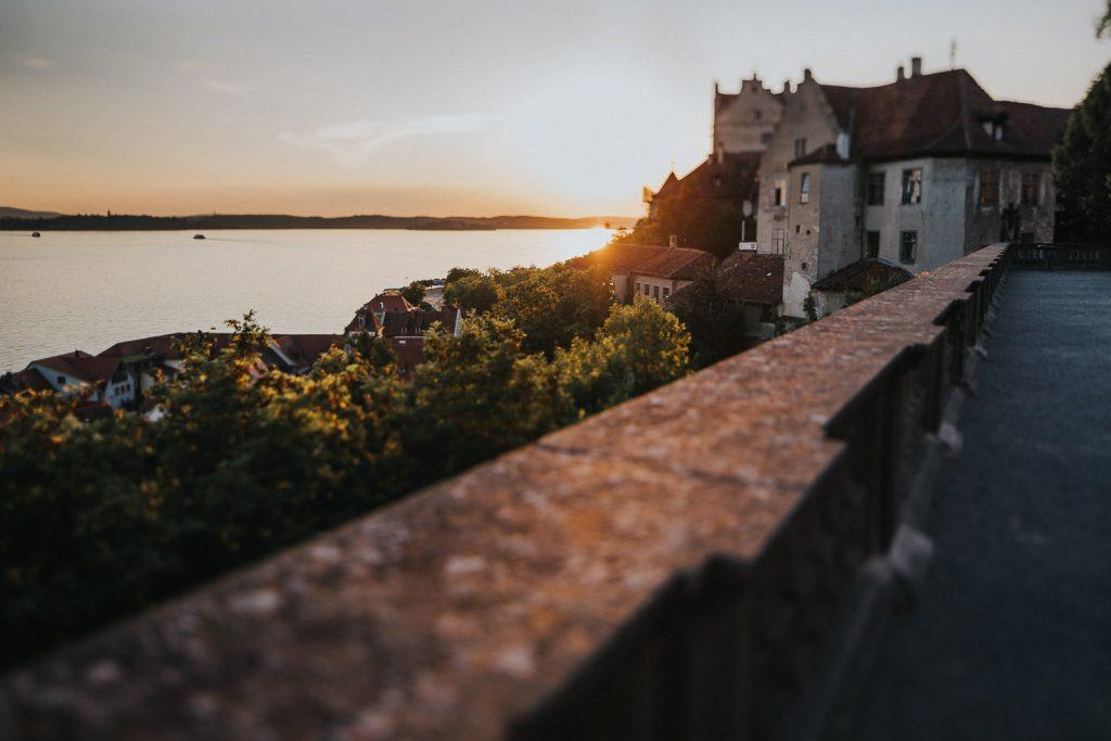 Hochzeit Schloss Meersburg Ausblick auf Bodensee