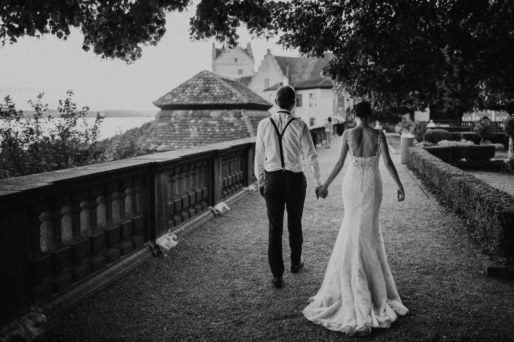 Hochzeit Bodensee Schloss Meersburg Brautpaar