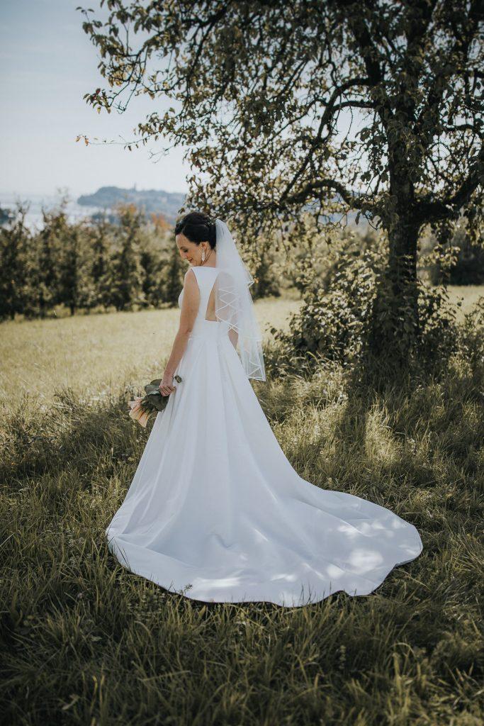 Hochzeitsfotograf Bodensee Konstanz Brautkleid