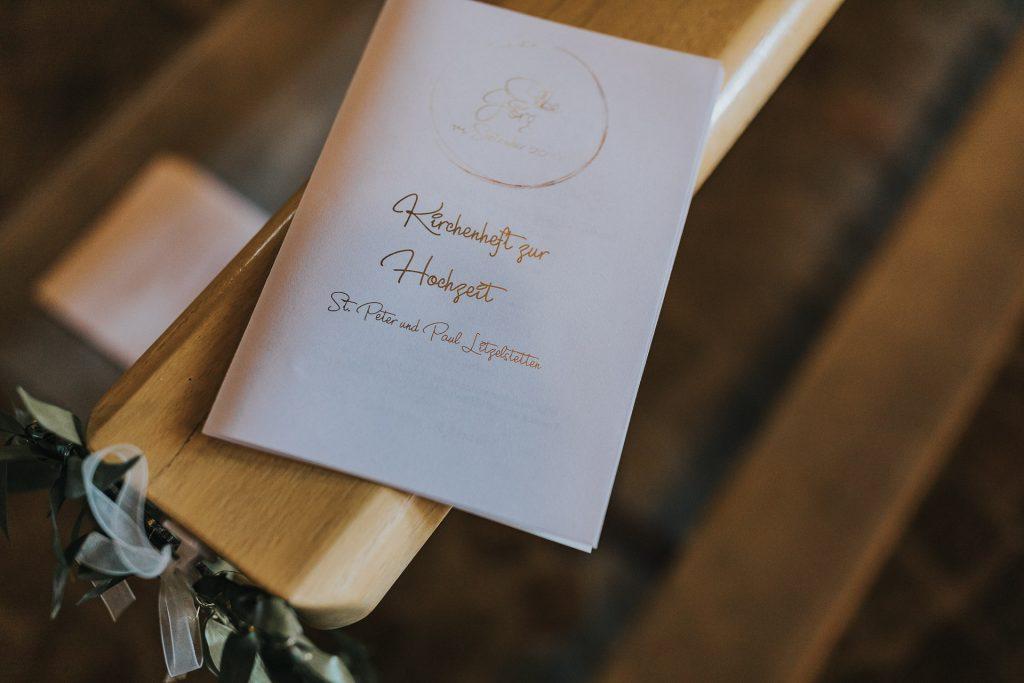 Hochzeitsfotograf Bodensee Konstanz Kirchenheft