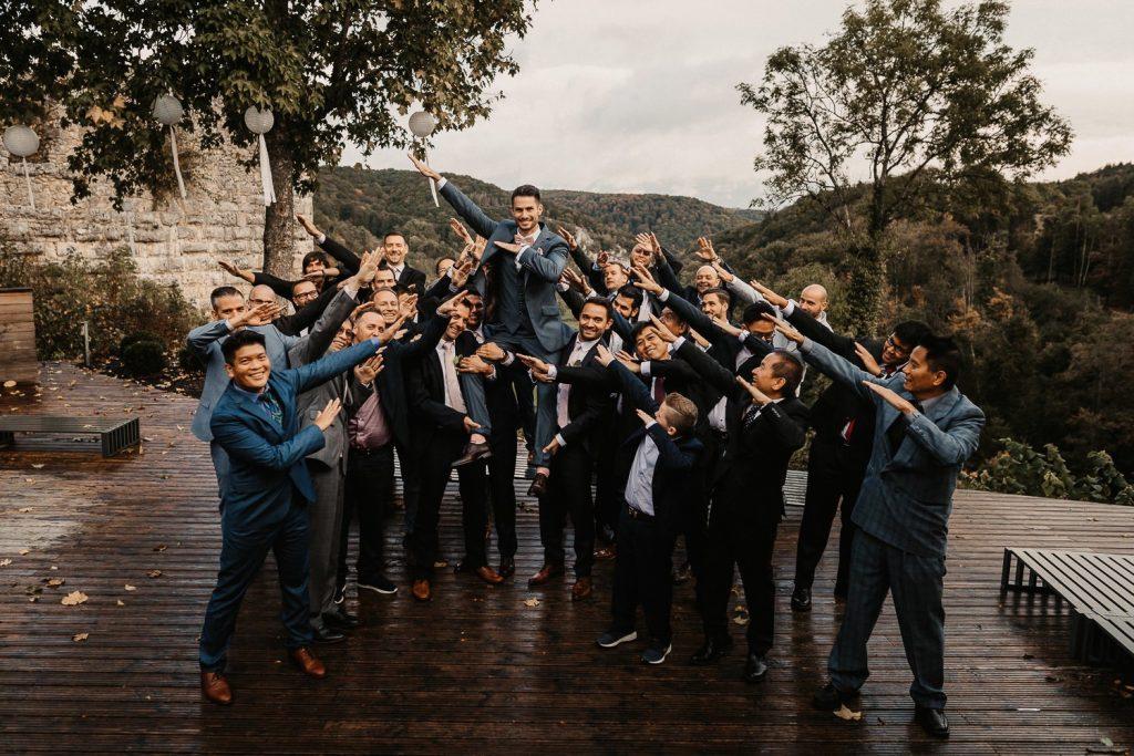 Hochzeit Maisenburg Gruppenbild Männer