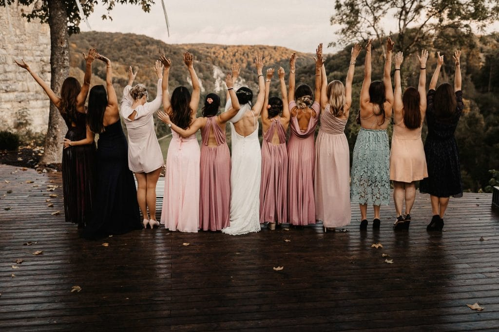 Hochzeit Maisenburg Gruppenbild Frauen