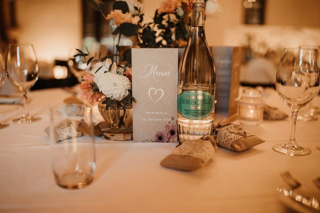 Hochzeit Hofgut Maisenburg Tischdeko